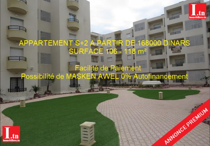 Appartement S+2 Bon Standing Nouvelle Medina Ben arous 3m417