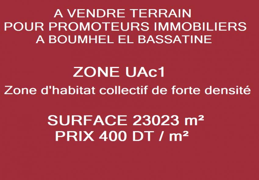 Terrain pour promoteur  boumhel el bassatine 3m052