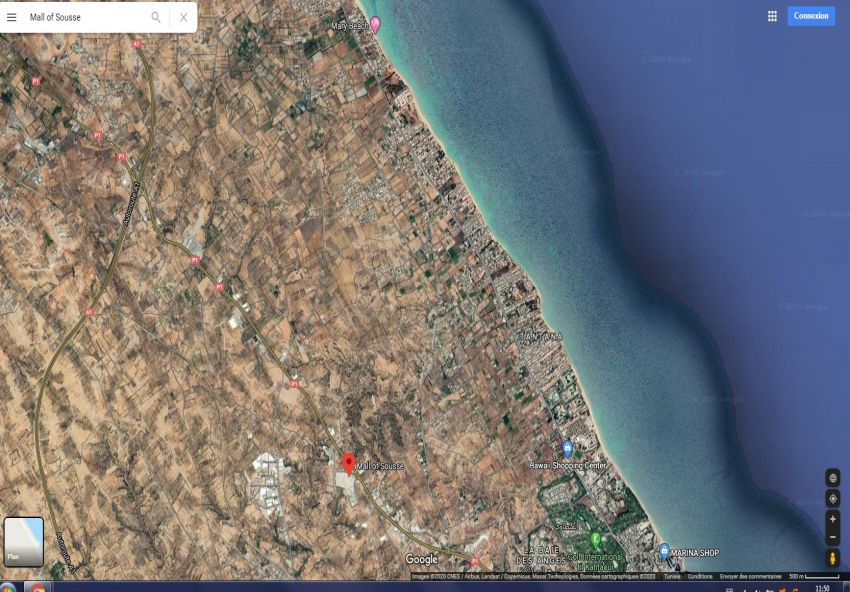 Terrain 7000M² Prés Stade Kais Ghodhbane Sidi Bouali