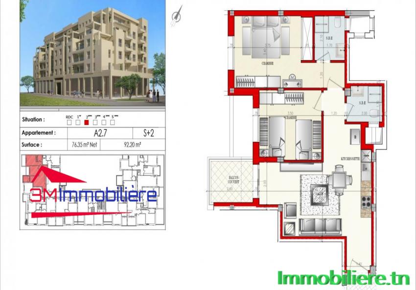 Appartement Haut Standding Afh Mrezga 3M003