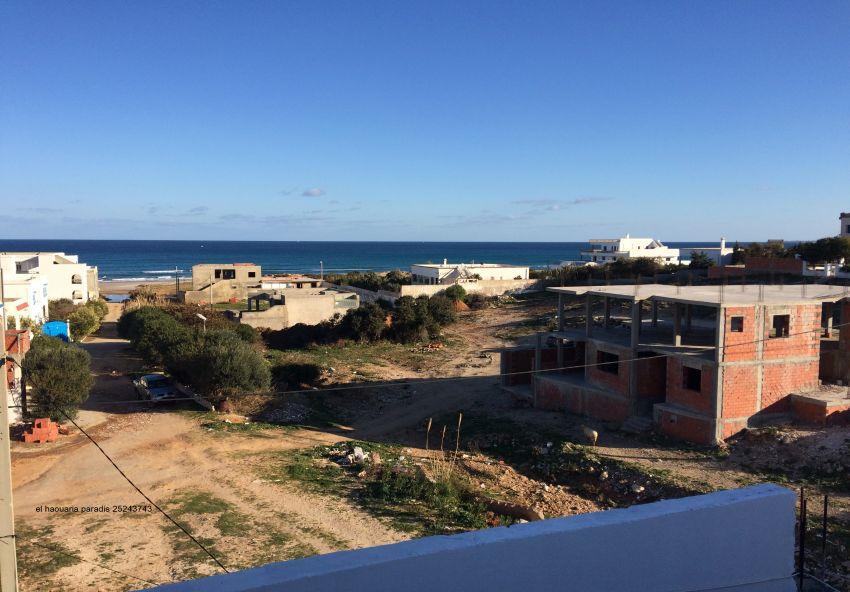 duplex haut de gamme en cour de construction S+3 avec garage vue de mer